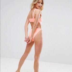 ASOS FULLER BUST Plunge Side High Leg Swimsuit